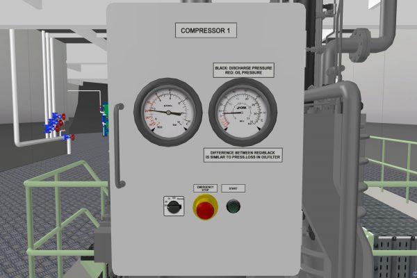 Compressor's panel
