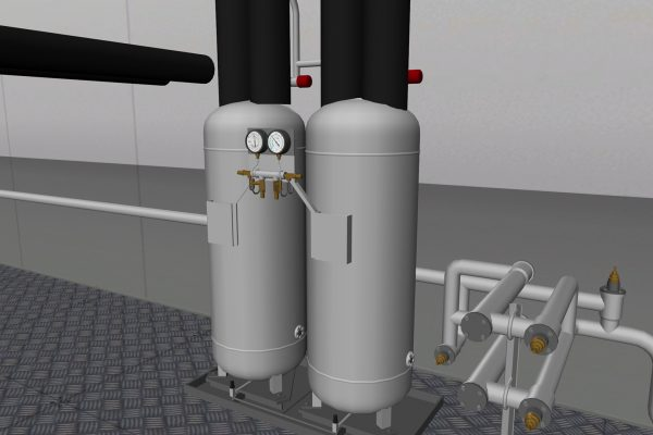 Liquid separators with filter driers