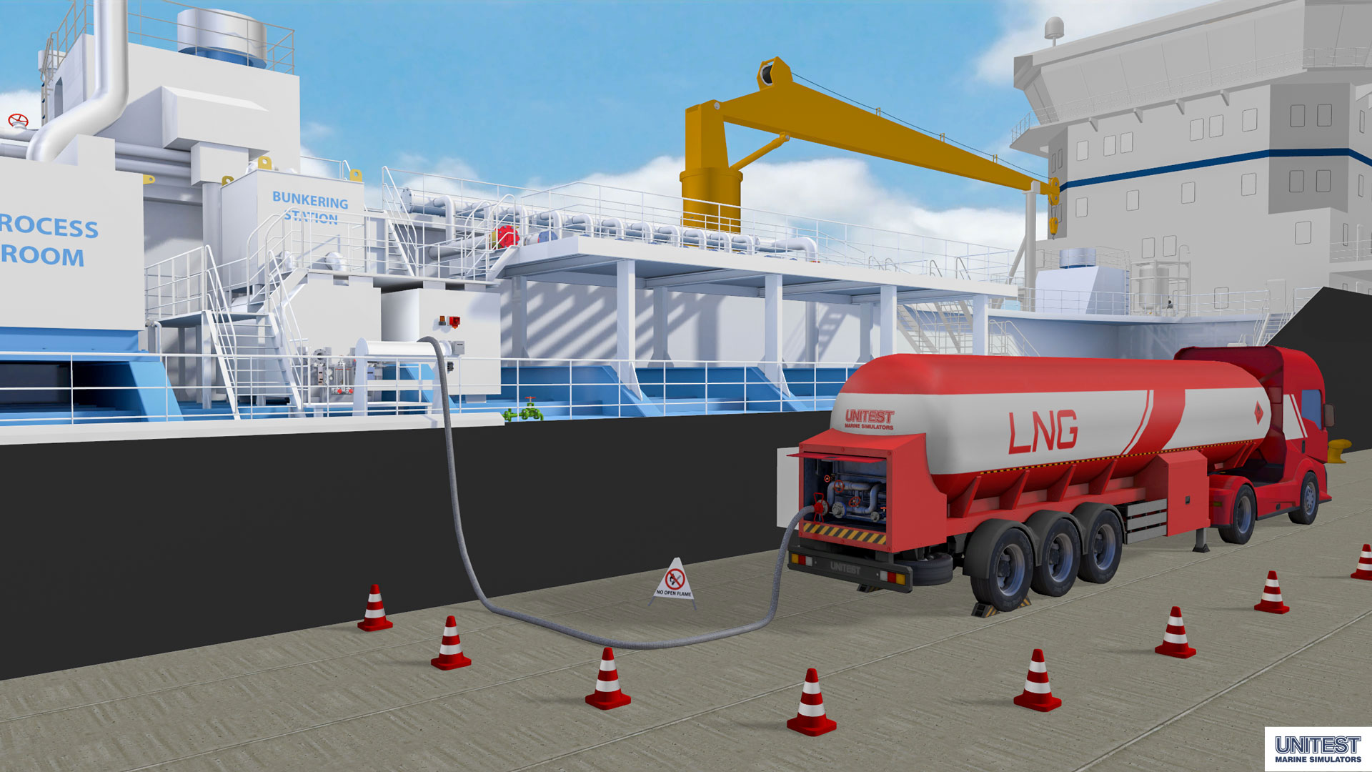 Truck-to-ship bunkering